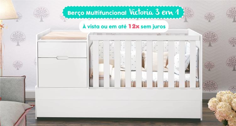 Berço Multifuncional Victoria 3 em 1