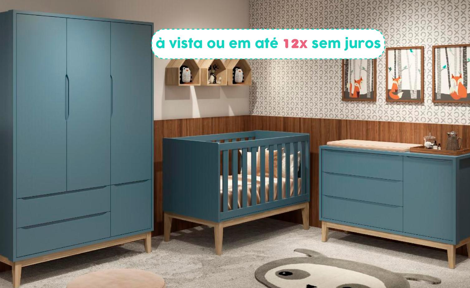Dormitórios Completos (berço, cômoda e roupeiro)