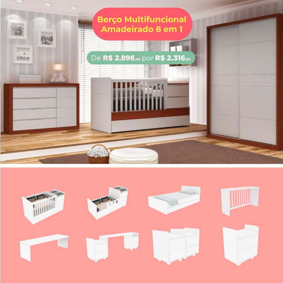 Berço Multifuncional Go Bed 8 em 1