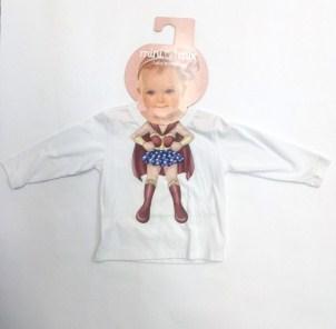 Camiseta Manga Longa Malha Super Heroína