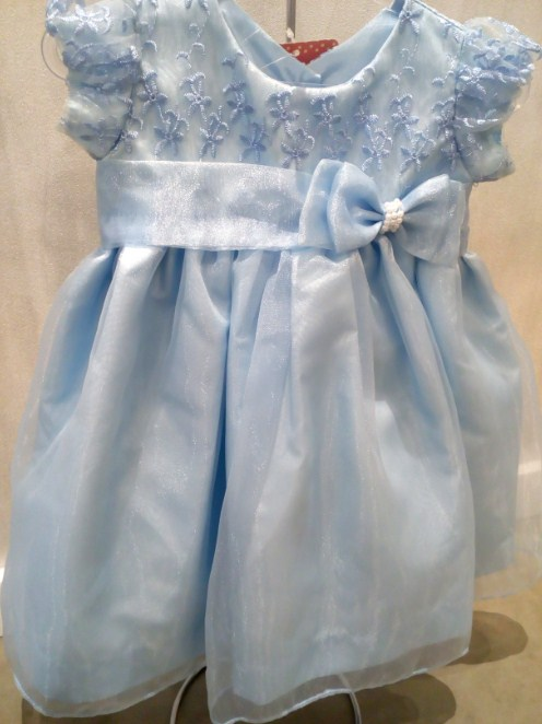 Vestido Azul Saia Lisa Gazar