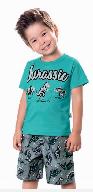Conjunto Camiseta em Malha Bermuda Microsorf