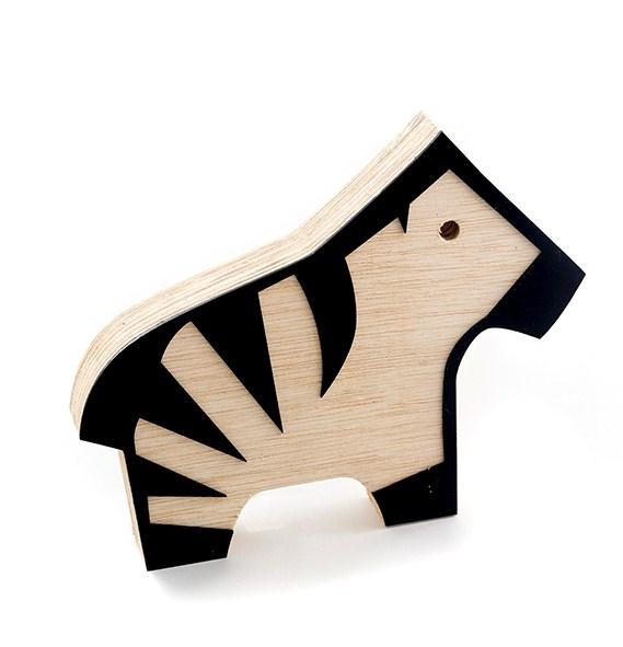 Toy Zebra Preta