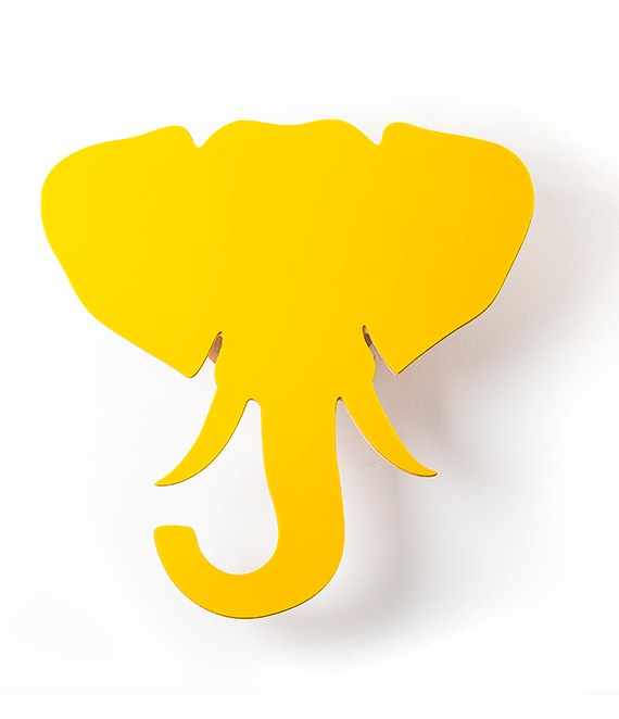 Troféu de Parede Elefante Acrílico Amarelo
