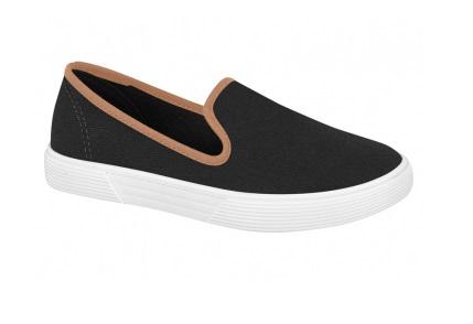 Sapato Casual Preto com Marrom