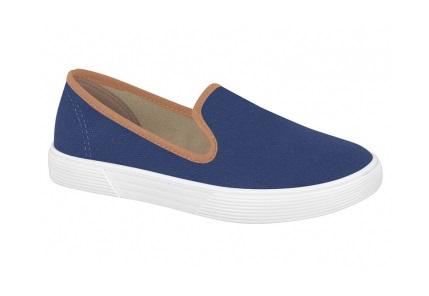 Sapato Casual Azul com Marrom