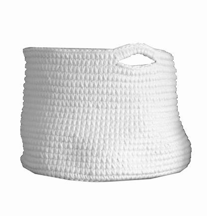Cesto Crochet G Branco