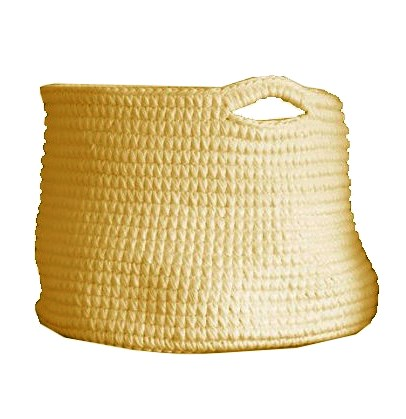 Cesto Crochet GG Amarelo
