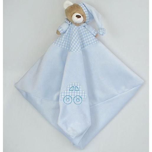 Blanket Urso Nino Azul Bebê