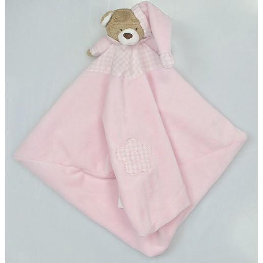 Blanket Urso Nino Rosa Bebê