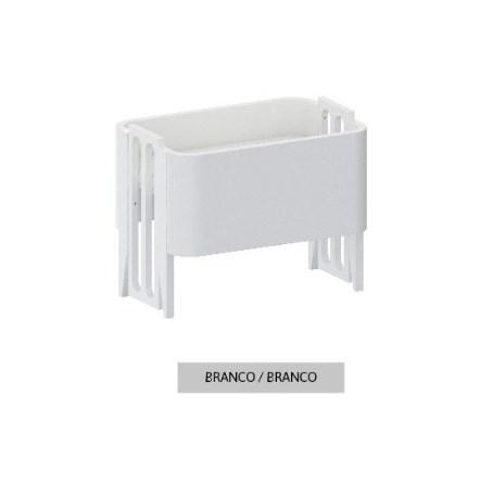 Mini Berço Bo Branco com Pés em color