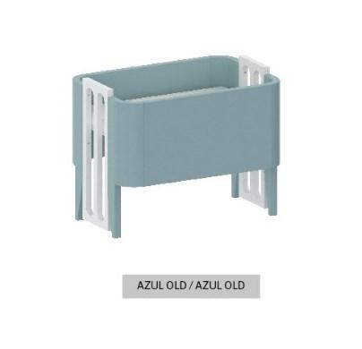 Mini Berço Bo Azul Old com Pés color