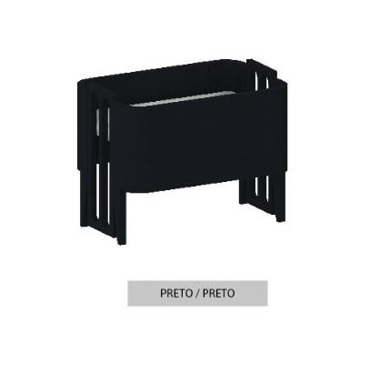 Mini Berço Bo Preto com Pés color