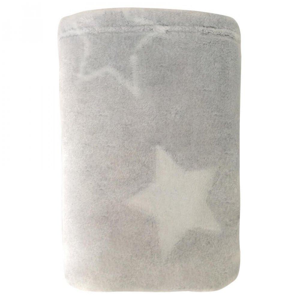 MANTA INF 0,90 X1,10 VELOUR STAR CINZA