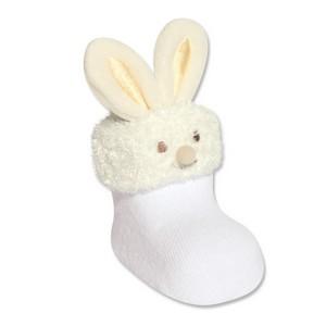 Meia sapatinho com aplique coelho