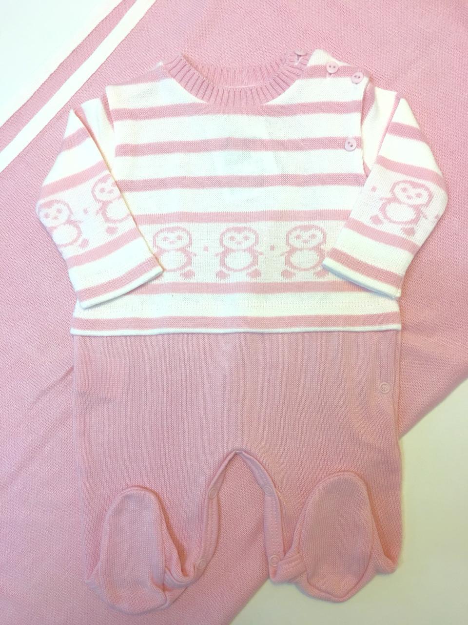 kit saida de maternidade pinguim rosa