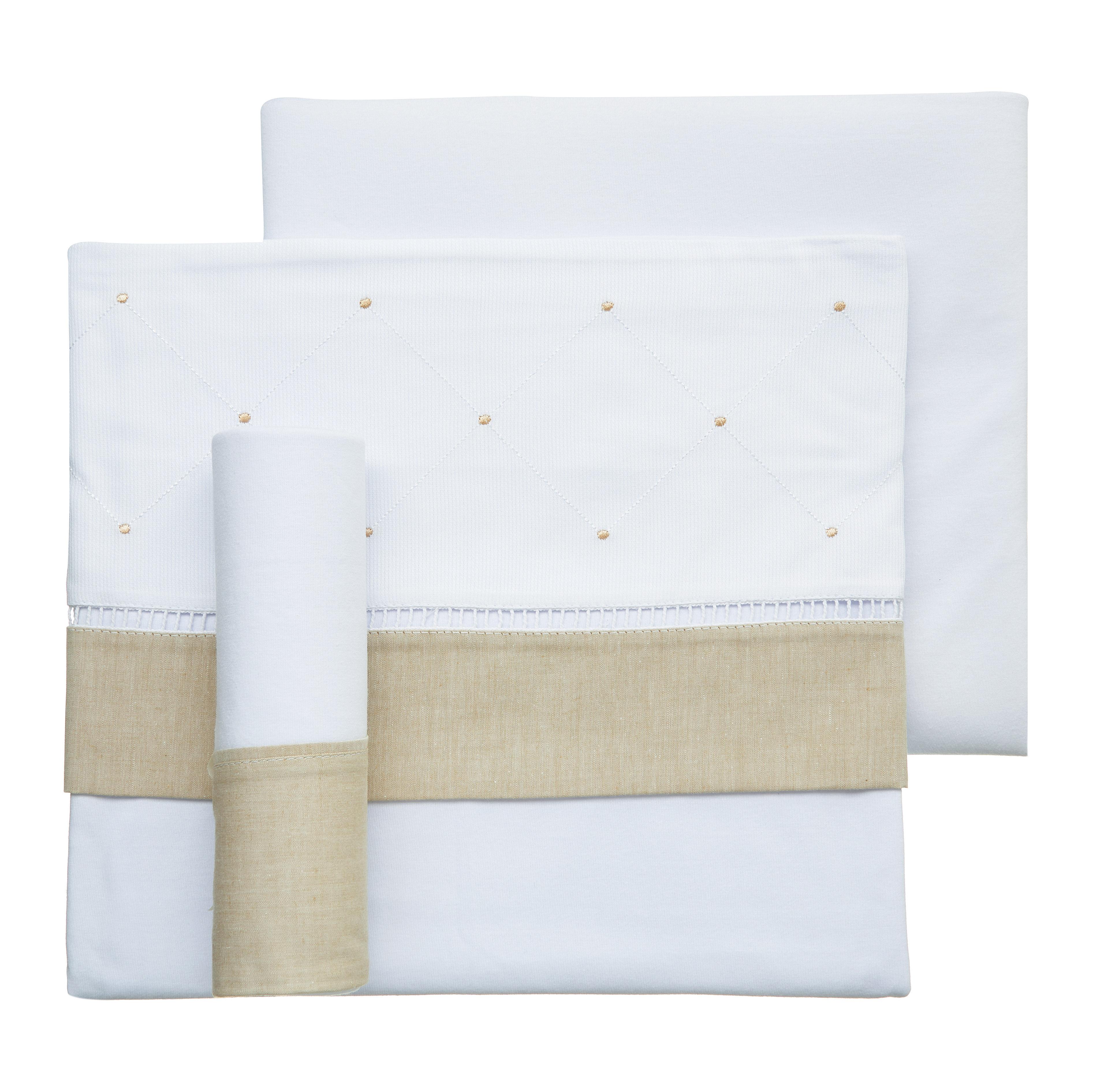 Jogo de lençol de malha classic bege