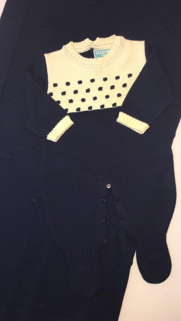 Saída de maternidade em tricot Junior
