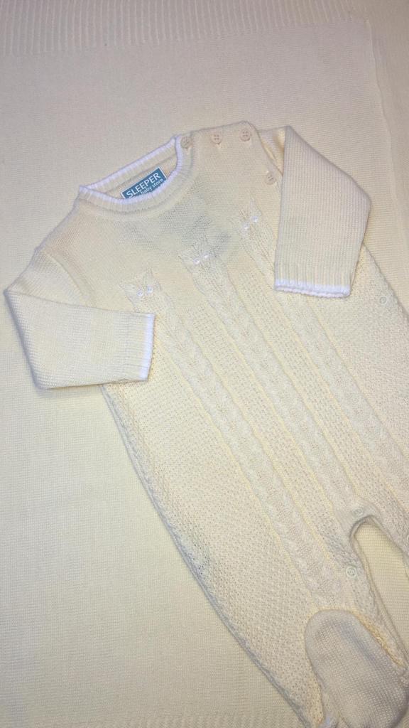 Saida de maternidade em tricot  coruja