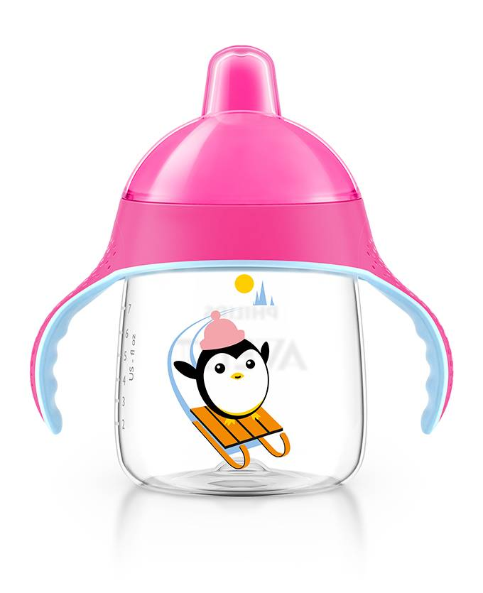 Copo Pinguim 260ml Rosa