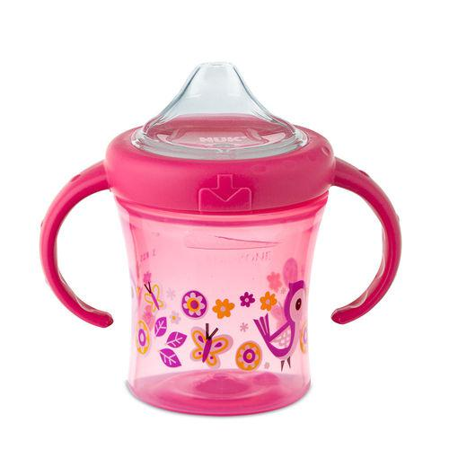 Copo My First Nuk 6+ mês Antitravamento 200ml Girl