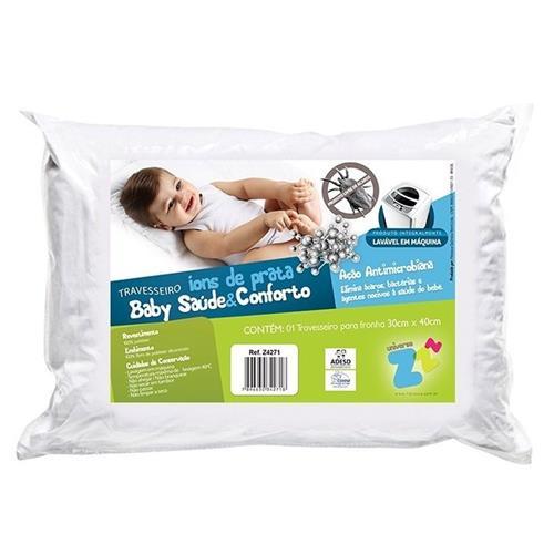 Travesseiro Baby Saúde e Conforto Ions de Prata