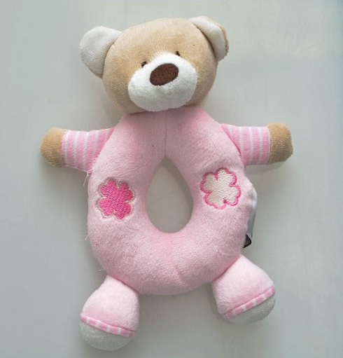 Chocalho Urso Rosa