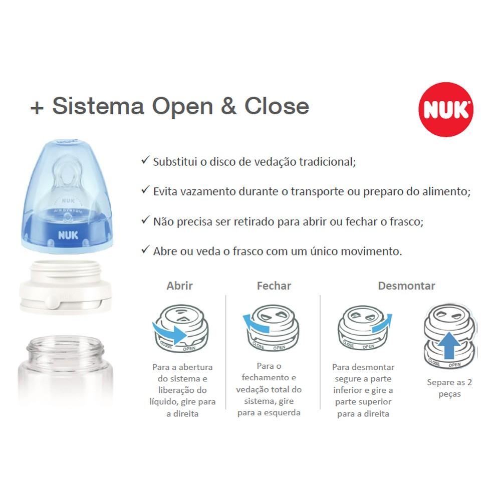 Open & Close Sist NUK Aberta vedação de Mamadeira