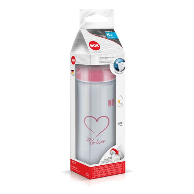 Mamadeira Nuk Evolution 250ml S1 Boy
