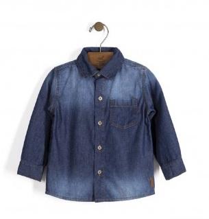 Camisa M/L Em Tecido Jeans