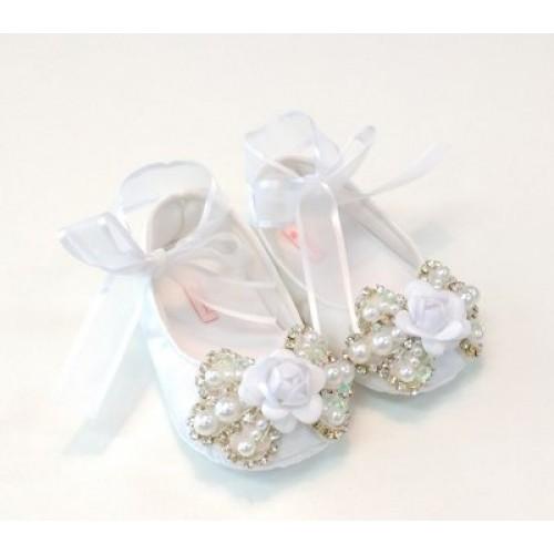 Sapatilha Luxo Laço Flor Branco